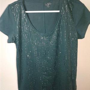 Ann Taylor Loft  Sequin Shirt